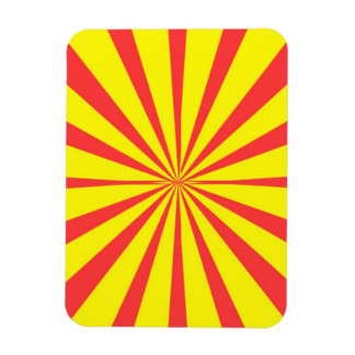 Retro Yellow & Red Background Vinyl Magnets