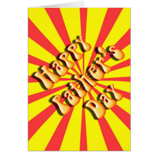Retro Yellow & Red For Father's Day Greeting Card