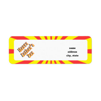 Retro Yellow & Red For Father's Day Return Address Label