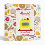 Retro Yellow Stove Breakfast Recipes Binder