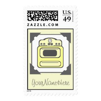 Retro Yellow Stove Postage Stamp