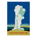 Retro Yellowstone Park Travel ad Posters