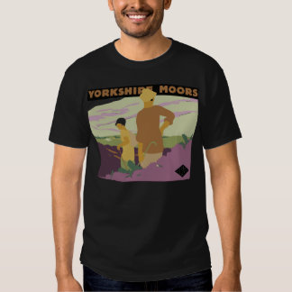 Retro Yorkshire Moors, Railway 1920s travel ad T Shirt