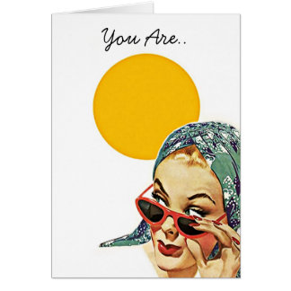 Retro You Are.. My Sunshine! BFF Friendship Card