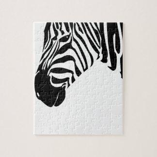 Retro Zebra Jigsaw Puzzle