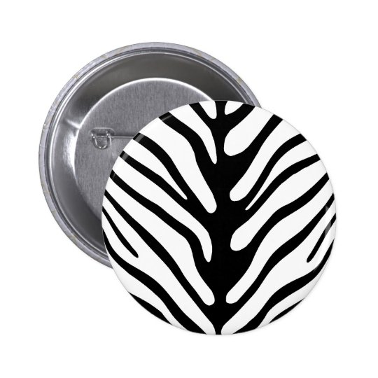 Retro Zebra Stripe Motif Button