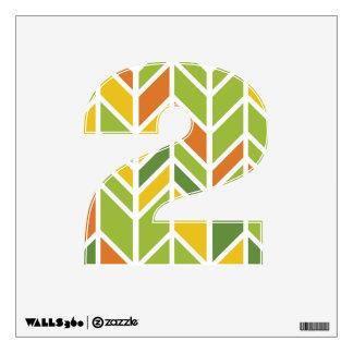 "Retro Zig-Zag Orange and Green 12""x12"" Wall Decal"