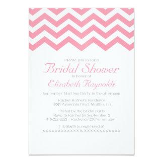 Retro Zigzag Bridal Shower Invitations Custom Invites