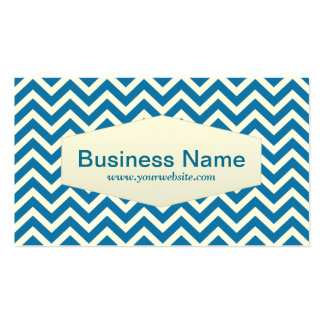 Retro Zigzag Chemical Engineer Business Card
