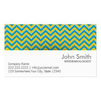 Retro Zigzag Epidemiologist Business Card