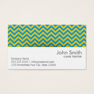 Retro Zigzag Game Testing Business Card