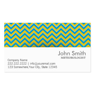 Retro Zigzag Meteorological Business Card