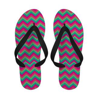 Retro Zigzag Sandal Flip Flops
