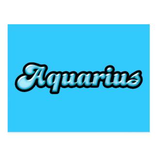 Retro Zodiac Aquarius Postcard