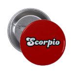 Retro Zodiac Opal 2 Inch Round Button