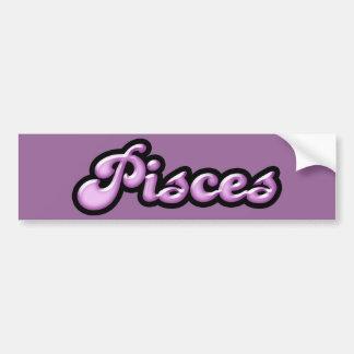 Retro Zodiac Pisces Bumper Sticker
