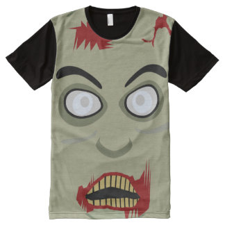 Retro Zombie All-Over Print T-shirt