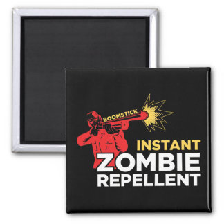 Retro Zombie Repellent, Survival Horror 2 Inch Square Magnet