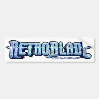 """RetroBlade """"Chrome"""" Logo Bumper Sticker"""