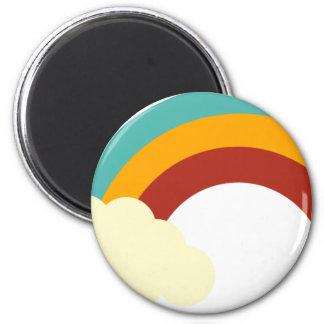 RetroBrightDayP1 2 Inch Round Magnet