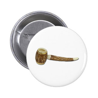 RetroCarvedPipe112010 Pinback Button