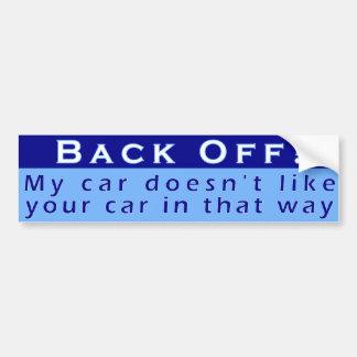 Retroceda a la pegatina para el parachoques pegatina para auto