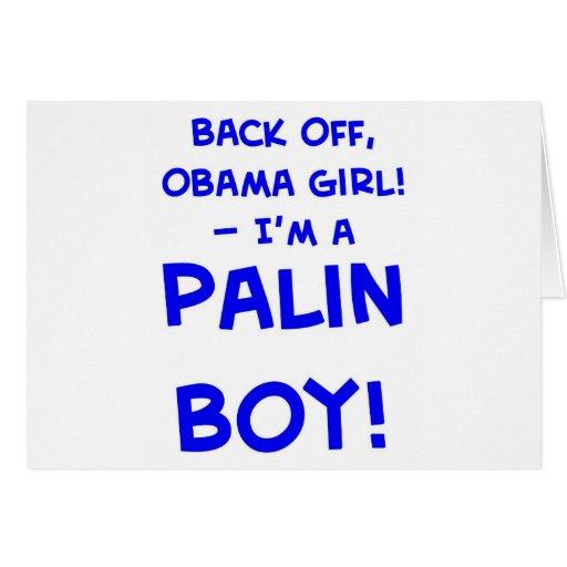 retroceda al chica de obama que soy un muchacho Sa Tarjeta De Felicitación