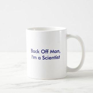Retroceda al hombre, yo son un científico tazas de café