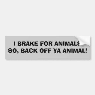Retroceda el animal de Ya Pegatina Para Auto