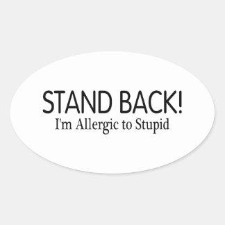 Retroceda Im alérgico a estúpido Colcomanias Oval Personalizadas