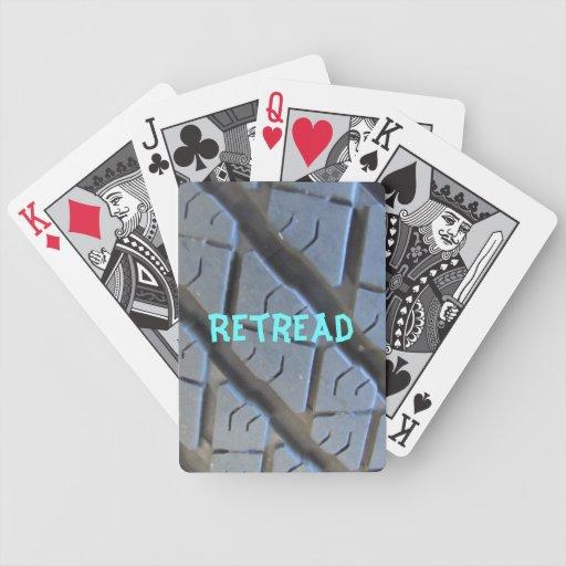 Retroceda los naipes del neumático barajas de cartas