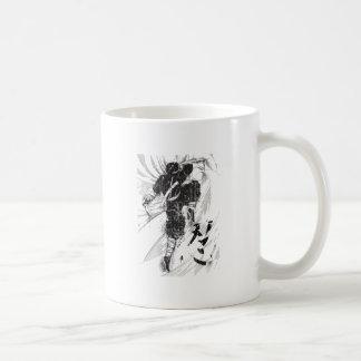 Retroceso asiático de la batalla del guerrero de taza