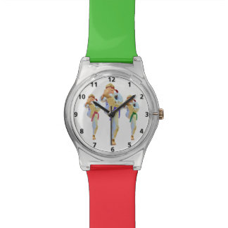 Retroceso con el pie del karate relojes de pulsera