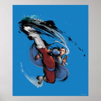 Retroceso de Chun-Li Posters