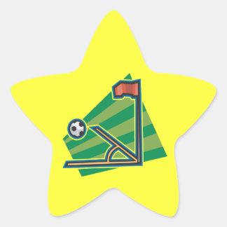 Retroceso de la esquina pegatina en forma de estrella