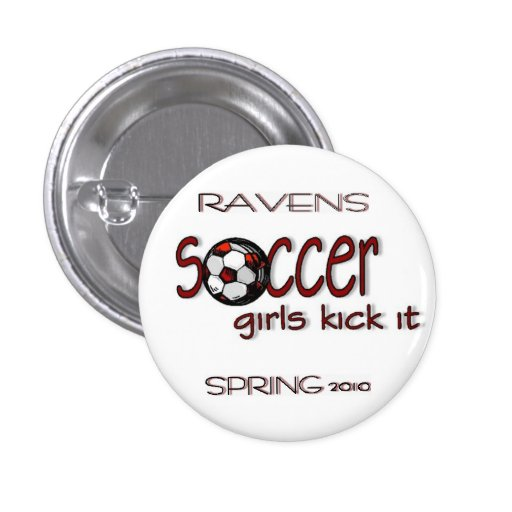 Retroceso de los chicas del fútbol él botón pins