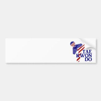 Retroceso de los E.E.U.U. el Taekwondo (1) Pegatina De Parachoque