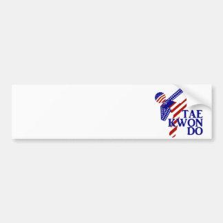 Retroceso de los E.E.U.U. el Taekwondo (2) Etiqueta De Parachoque