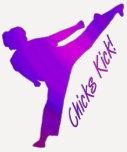 ¡Retroceso de los polluelos! púrpura Camisetas