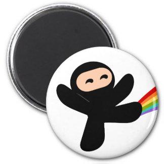 Retroceso de Ninja del arco iris Imán De Nevera