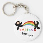Retroceso de Ninja del arco iris Llaveros