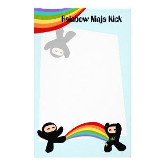 Retroceso de Ninja del arco iris Personalized Stationery