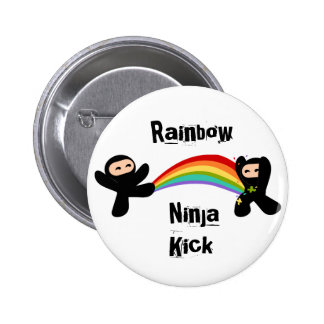 Retroceso de Ninja del arco iris Pins