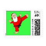 Retroceso de sellos del navidad con el pie de los