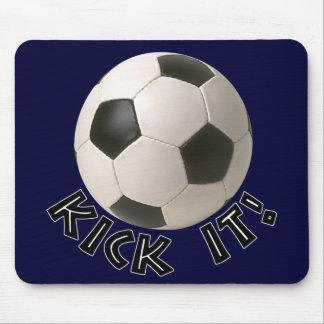 retroceso del deporte de 3D Soccerball él Alfombrilla De Ratón