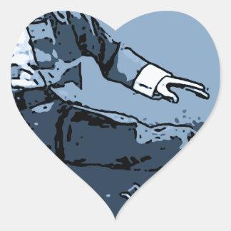 retroceso del dogo pegatina en forma de corazón