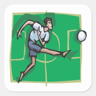 Retroceso del fútbol colcomanias cuadradas personalizadas