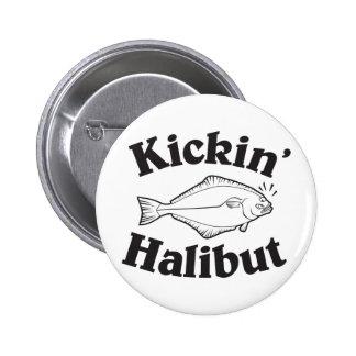 Retroceso del halibut con el pie pin redondo 5 cm