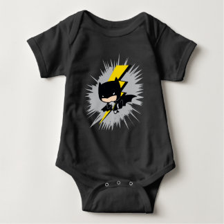 Retroceso del relámpago de Chibi Batman Body Para Bebé