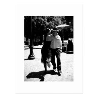 Retroceso del tango tarjeta postal